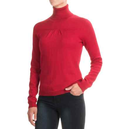 Silky Turtleneck Sweater (For Women) in Red - Closeouts