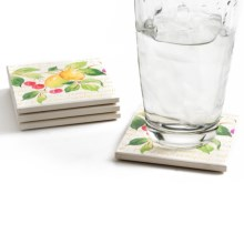 Silver Coast Creations Coasters - Set of 4 in Fresca Fruit - Closeouts
