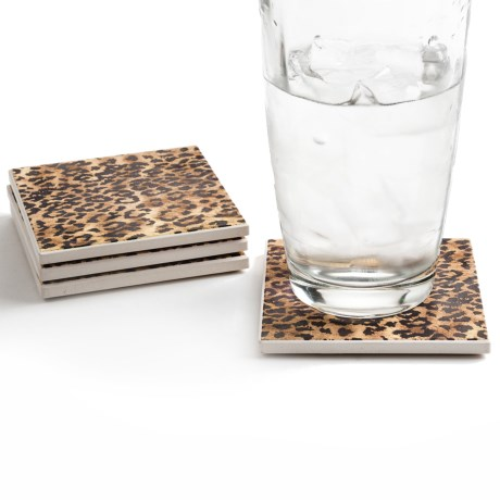 Silver Coast Creations Coasters - Set of 4 in Jaguar