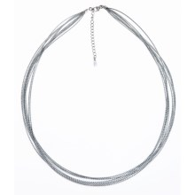 Silver Express Metallic Cord Necklace - 10 Strand in Silver - Closeouts
