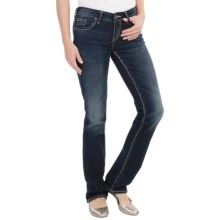 Silver Jeans Aiko Mid Slim Jeans - Slim Bootcut (For Women) in Rinse Wash - Closeouts