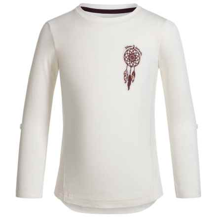 Silver Jeans Dream Catcher Lace Shirt - Long Sleeve (For Little Girls) in Offwhite - Closeouts