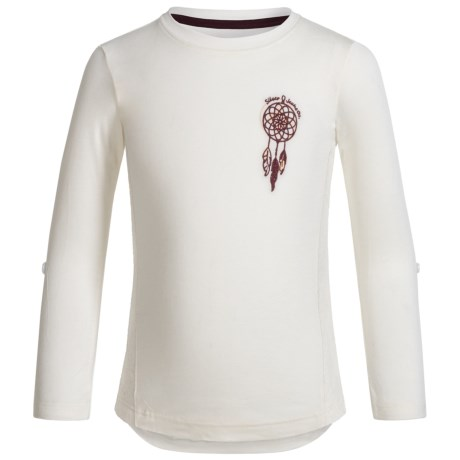 Silver Jeans Dream Catcher Lace Shirt - Long Sleeve (For Little Girls) in Offwhite