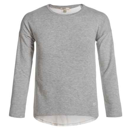 Silver Jeans Fashion Sweatshirt (For Big Girls) in Heather Grey - Closeouts
