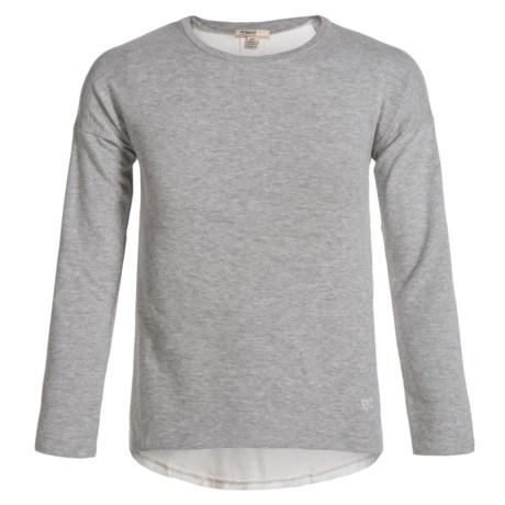 Silver Jeans Fashion Sweatshirt (For Big Girls) in Heather Grey