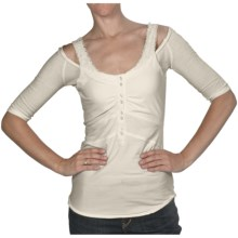 Silver Jeans Fooler Shirt - Stretch Cotton, 3/4 Sleeve (For Women) in Vanilla - Closeouts