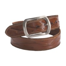 Silver Jeans Hawthorn Leather Belt (For Men) in Tan - Closeouts