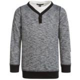 Silver Jeans Henley Shirt - Long Sleeve (For Little Boys)