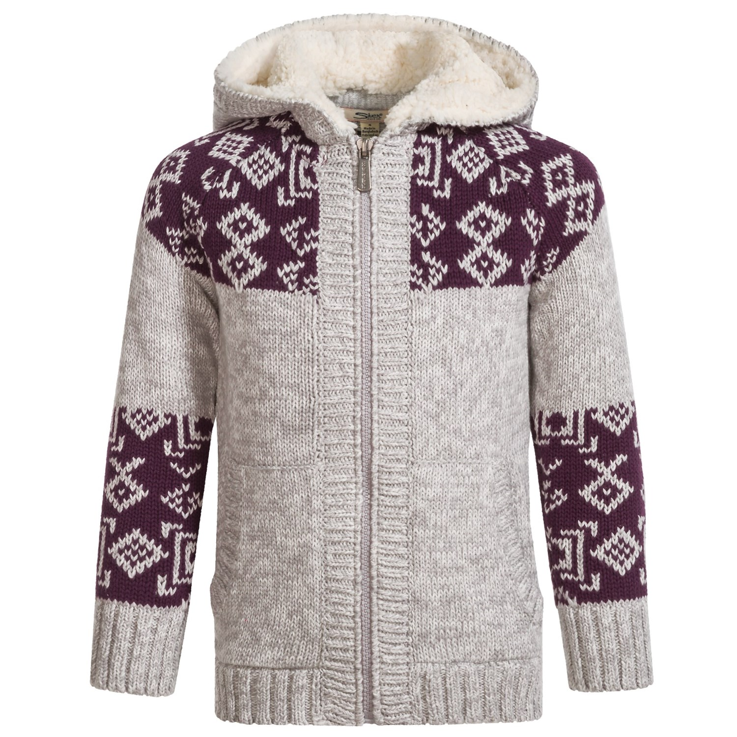 Silver Jeans Hooded Knit Sweater (For Big Girls) - Save 68%