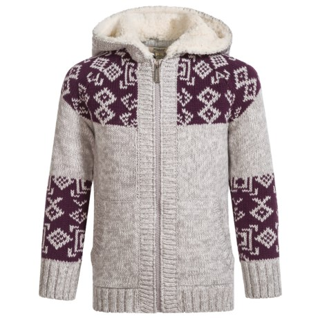 Silver Jeans Hooded Knit Sweater (For Big Girls) in Heather Grey