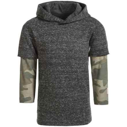 Silver Jeans Knit Hoodie (For Big Boys) in Heather Charcoal - Closeouts