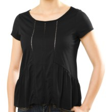 Silver Jeans Ladder Tape T-Shirt - Short Sleeve (For Women) in Black - Closeouts