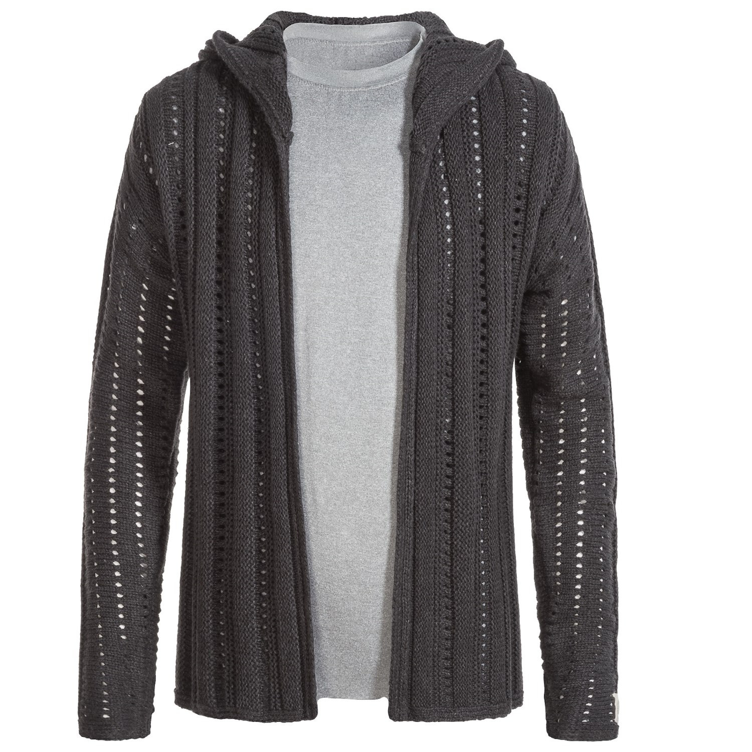 Silver Jeans Open Cardigan Hooded Sweater (For Big Girls) - Save 55%