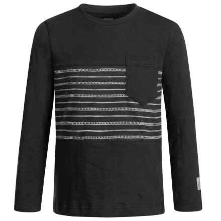 Silver Jeans Striped Shirt - Long Sleeve (For Big Boys) in Black - Closeouts