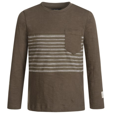 Silver Jeans Striped Shirt - Long Sleeve (For Little Boys) in Army