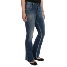Silver Jeans Suki Flap Jeans - Mid Rise, Bootcut (For Petite Women) in Dark Rinse - Closeouts