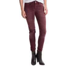 Silver Jeans Suki Jeggings - Corduroy, Mid Rise (For Women) in Burgundy - Closeouts