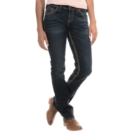 Silver Jeans Suki Mid Jeans Straight Leg (For Women)