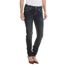 Silver Jeans Suki Mid Skinny Jeans (For Women) in Rinse Wash - Closeouts
