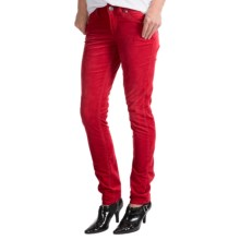 Silver Jeans Suki Skinny Corduroy Pants - Mid Rise (For Women) in Red - Closeouts