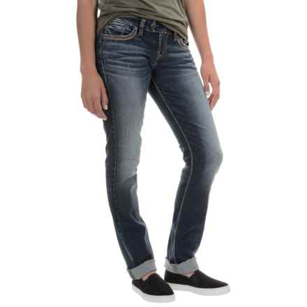 Silver Jeans Tuesday Jeans - Low Rise, Straight Leg (For Women) in Indigo - Overstock
