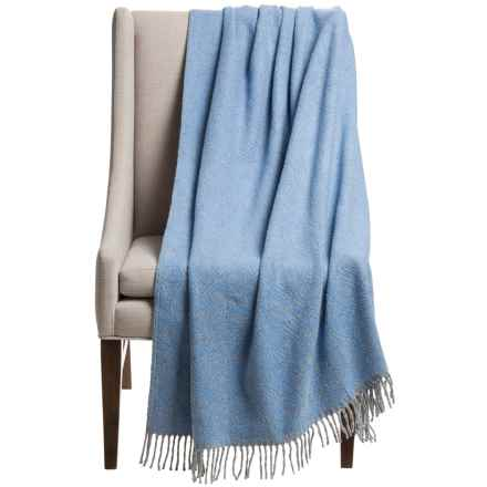 """Silver Line Collection Emily Throw Blanket - 59x70"""" in Blue/Grey - Closeouts"""
