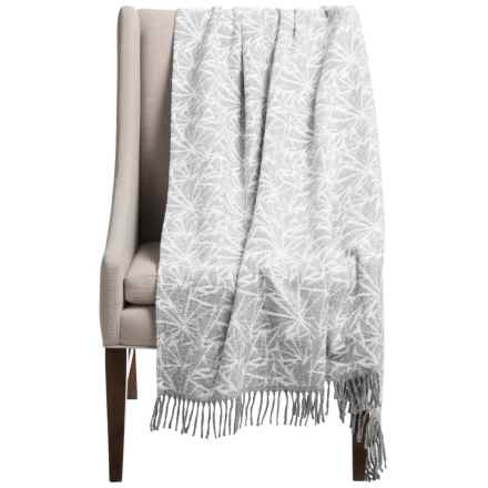"""Silver Line Collection Stark Throw Blanket - 59x70"""" in Grey/White - Closeouts"""