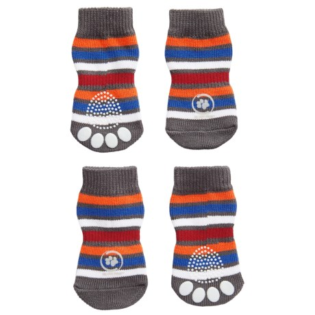 Silver Paw Anti-Slip Indoor Dog Socks in Multi