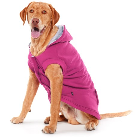 Silver Paw LW-3 Dog Hoodie in Fuschia/Charcoal