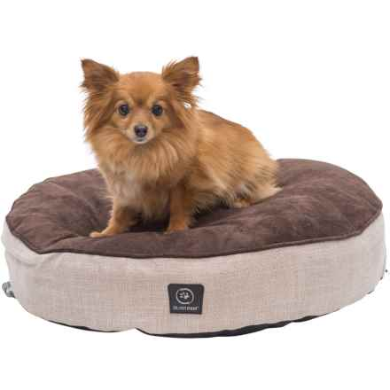 "Silver Paw Medium Dog Bed - 22"" Round in Brown/Beige - Closeouts"