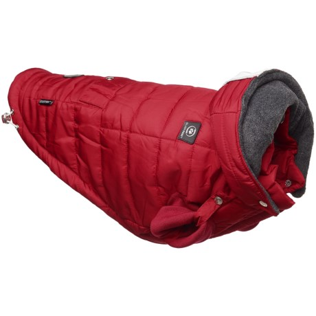 Silver Paw U-Sleek Dog Jacket - Insulated in Red