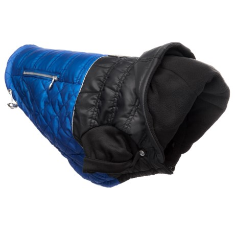 Silver Paw Urban Quilted Puffy Dog Jacket in Dazzle Blue