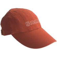 Simms 8-Panel Washed Twill Long Bill Cap - UPF 50+ (For Men) in Simms Orange - Closeouts