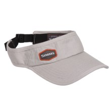 Simms Adjustable Back Visor (For Men and Women) in Fog - Closeouts