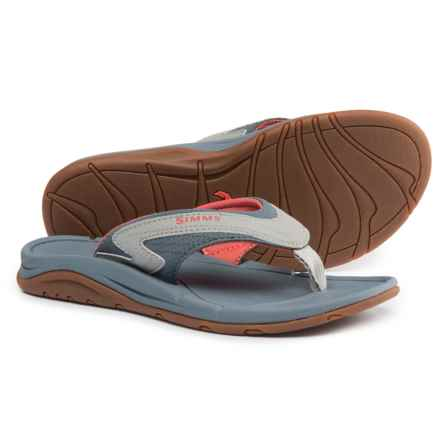 Simms Atoll Flip-Flops - Vegan Leather (For Women) in Blossom - Closeouts