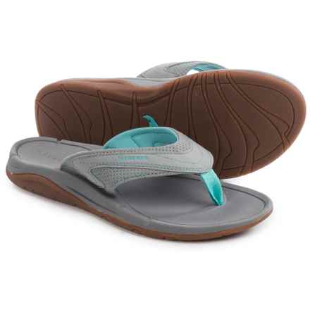 Simms Atoll Flip-Flops - Vegan Leather (For Women) in Smoke - Closeouts