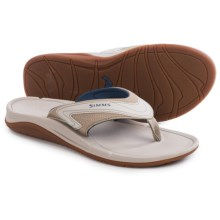 Simms Atoll Flip-Flops - Vegan Leather (For Women) in Stone - Closeouts
