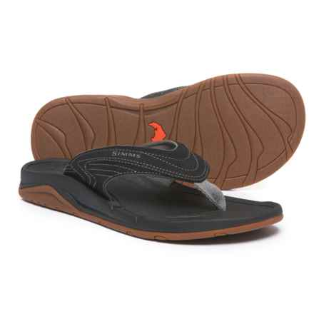 Simms Atoll Sandals - Flip-Flops (For Men) in Coal - Closeouts