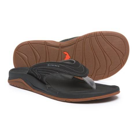 Simms Atoll Sandals - Flip-Flops (For Men) in Coal