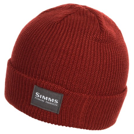 Simms Basic Beanie (For Men and Women) in Ruby