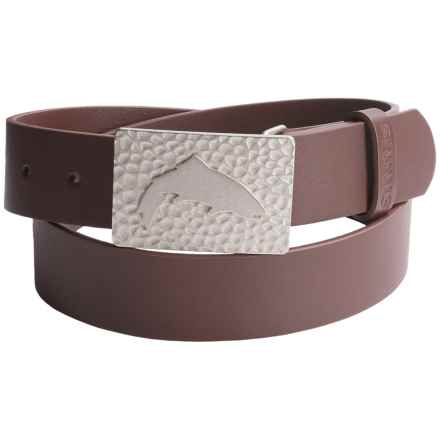 Simms Big Sky Belt - Leather in Brown - Closeouts
