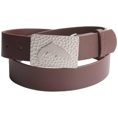 Simms Big Sky Belt - Leather in Brown