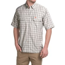 Simms Big Sky COR3 Fishing Shirt - UPF 50, Short Sleeve (For Men) in Boulder Plaid - Closeouts