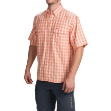 Simms Big Sky COR3 Fishing Shirt - UPF 50, Short Sleeve (For Men) in Clay Plaid - Closeouts
