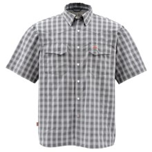 Simms Big Sky COR3 Fishing Shirt - UPF 50, Short Sleeve (For Men) in Concrete Plaid - Closeouts