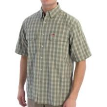 Simms Big Sky COR3 Fishing Shirt - UPF 50, Short Sleeve (For Men) in Sagebrush Plaid - Closeouts