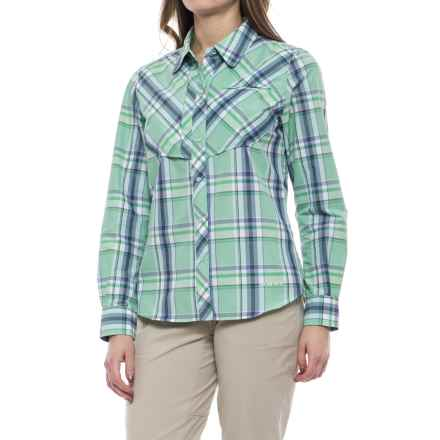 Simms Big Sky Shirt - UPF 20+, Long Sleeve (For Women) in Celery Plaid - Closeouts