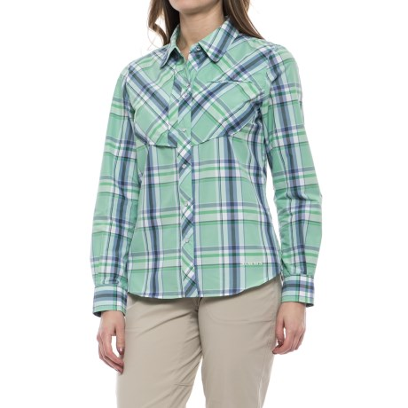 Simms Big Sky Shirt - UPF 30+, Long Sleeve (For Women) in Celery Plaid