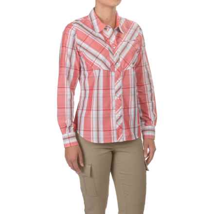 Simms Big Sky Shirt - UPF 30+, Long Sleeve (For Women) in Dark Coral Plaid - Closeouts