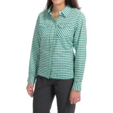 Simms Big Sky Shirt - UPF 30+, Long Sleeve (For Women) in Ink Plaid - Closeouts